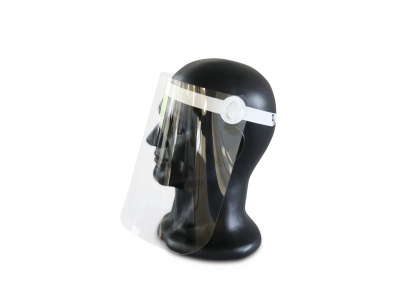 Gesichtsvisier aus glasklarem Kunststoff
