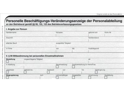 Beschäftigungs-Veränderungs-Anzeige