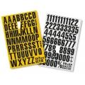 Magnetische Ziffern und Buchstaben