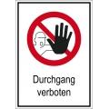 """Verbotsschild """"Durchgang verboten"""""""