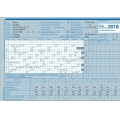 AUK-Gleitzeitabrechnungskarte für 2018