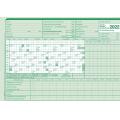 AUK-Gleitzeitabrechnungskarte für 2022