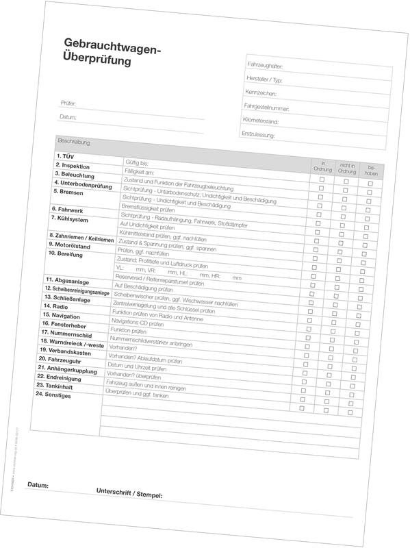 """Eichner Werkstatt-Formulare /""""Checklisten/"""" 9036-00174"""