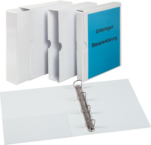 9302-00200 - Presentation slipcase incl ring binder made of PVC 4-ring system