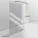 9127-01798-085 - Portable Hygiene Barrier sizes