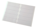 9218-02002 - Self-adhesive file spine pockets transparent