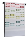 9219-02201 - Document planning board for DIN A5 + A6 32 slots white