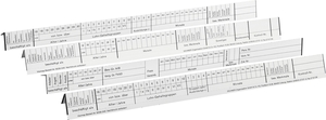 9036-00040 - Planning and target date strips for personnel binders white