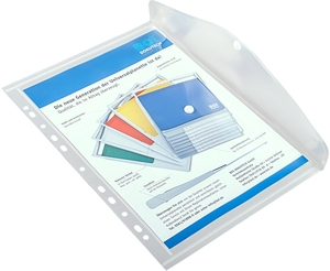 9038-00748 - PP document pouch with filing strip transparent