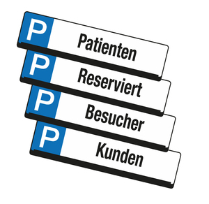 9219-00266 - Reserved signs for parking spaces overview