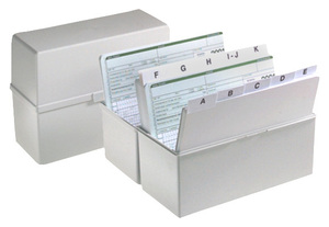 9600-00207 - Hand filing box DIN A5 made of plastic grey