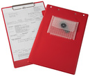9015-00347 - Service board with notepad clip red