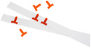 9085-00075 - Planning signals for insert board narrow orange