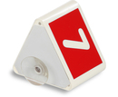 9218-00791A - Roof sign with number with suction cup red