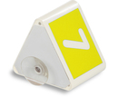 9218-00793A - Roof sign with number with suction cup yellow