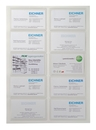 9218-02004 - Self-adhesive business card pockets filled