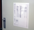 9218-03531 - Self-adhesive circuit diagram pouch at door