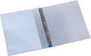 9330-00788 - Presentation ring binder made of PP 4-ring system blue